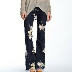Free People Floral Bell Bottoms